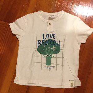 Zara Baby Boy Broccoli Shirt